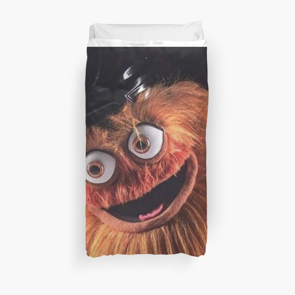 """Flyers New Mascot """"Gritty"""" Duvet Cover"""