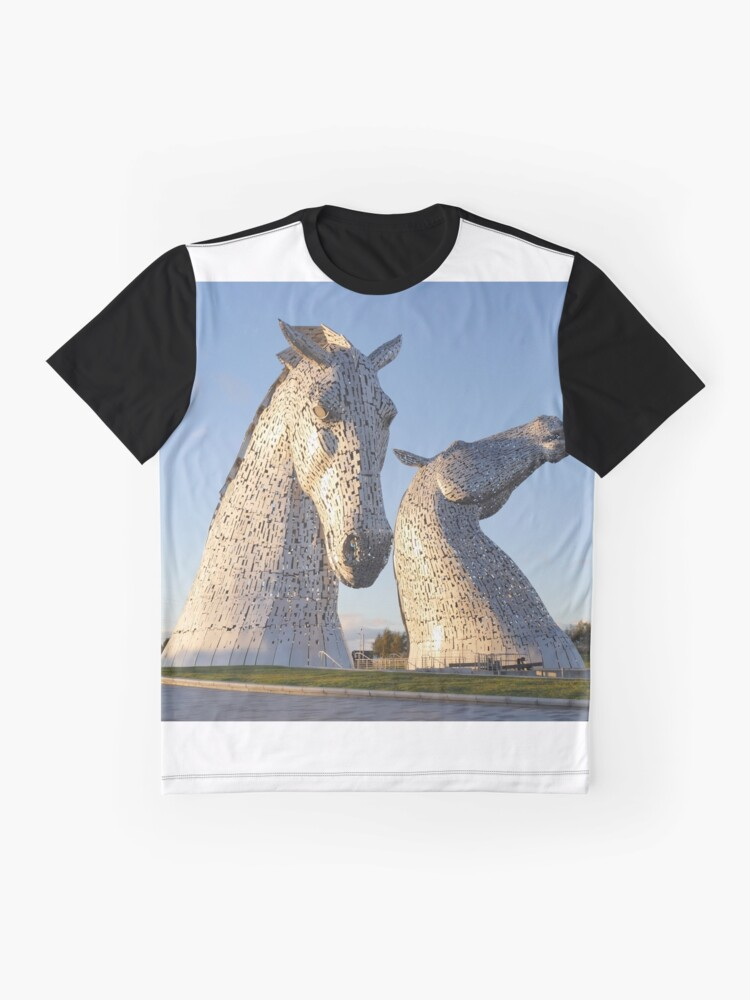 Alternate view of the Kelpies, Helix park, Falkirk Graphic T-Shirt