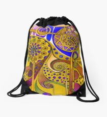 AURORA BOREALIS YELLOW Drawstring Bag