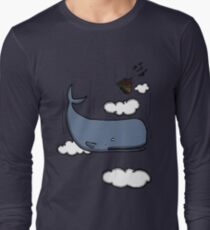 Sperm whale and petunias Long Sleeve T-Shirt