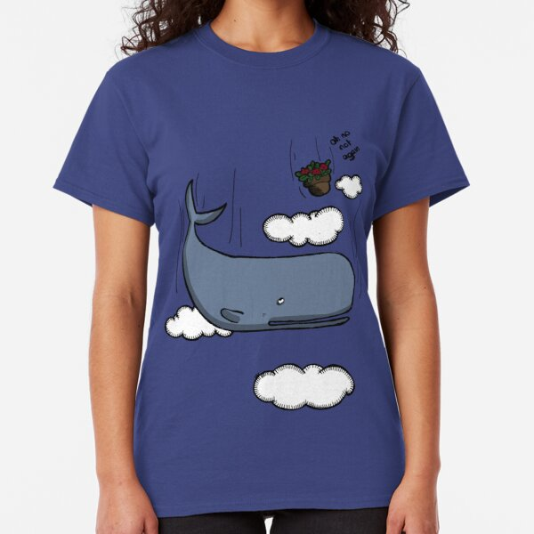 Sperm whale and petunias Classic T-Shirt