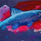 Blue Fish on a Red Slab by Tipptoggy