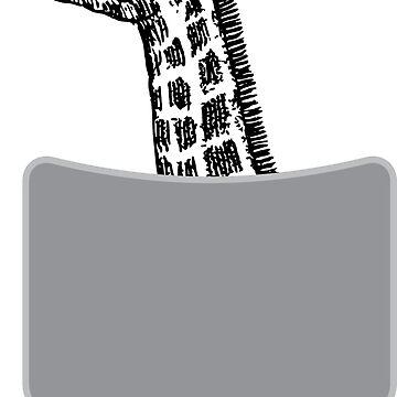 Cute Giraffe In Pocket Giraffe Lover T-shirt by zcecmza