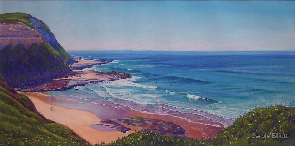 Susan Gilmore Beach, Newcastle, NSW, Australia by carolelliott7