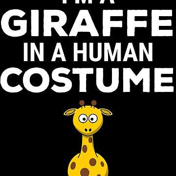 Funny Giraffe In A Human Costume Halloween T-shirt by zcecmza