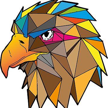 HAWK geometric by ilustracionDGR