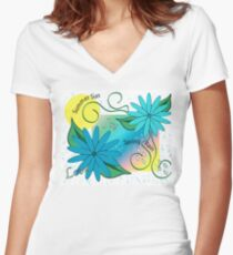 Spring and Summer Women's Fitted V-Neck T-Shirt