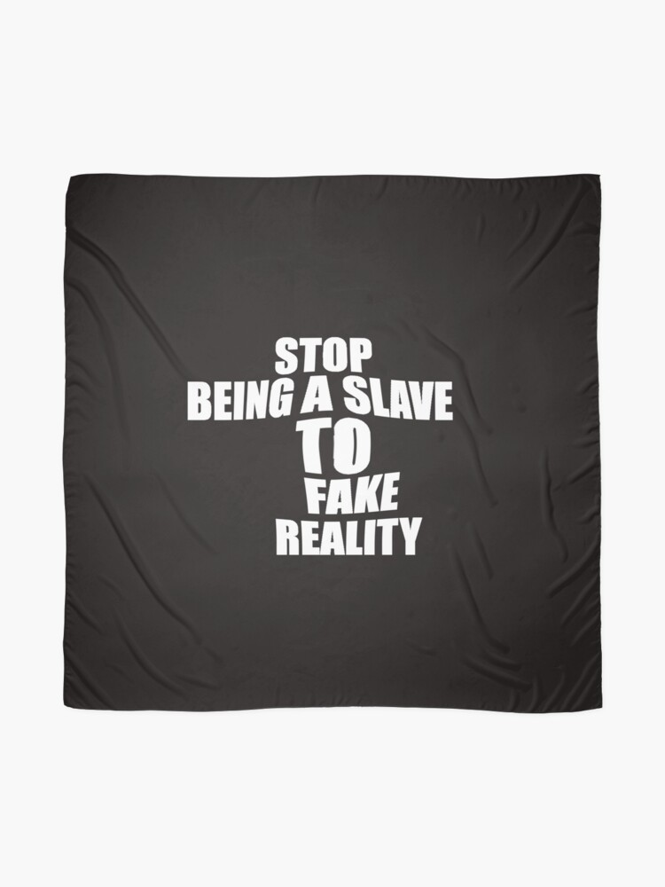 Alternate view of stop being a slave Scarf