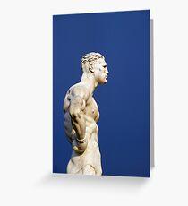 Statue at Foro Italico (Stadio dei Marmi) in Rome Greeting Card