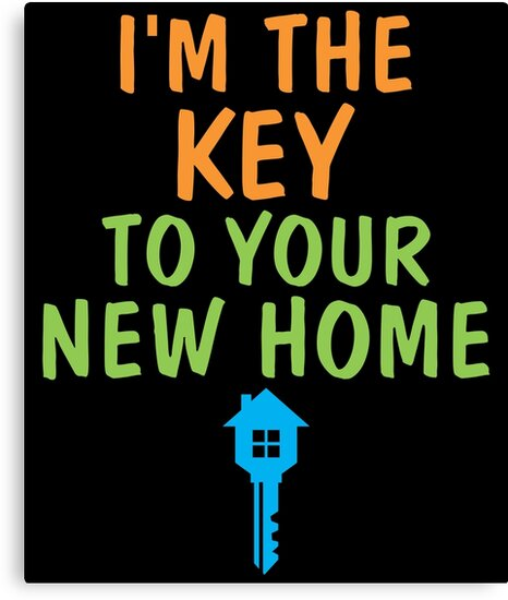 \'Funny Real Estate Agent Cute Realtor Home Broker House Seller\' Canvas  Print by LoveAndSerenity