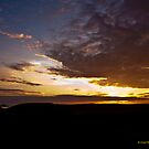 Sunset Over Port Quin, Cornwall by David's Photoshop