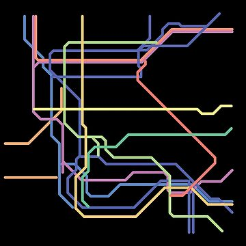Minimalist New York City Underground Subway Metro Map T-shirt T-Shirt by mightyb