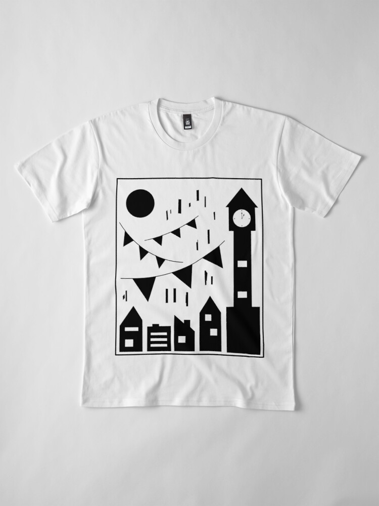 Alternate view of Flags Hanging Over the City Premium T-Shirt