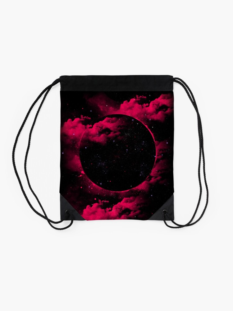 Alternate view of Black Hole Drawstring Bag