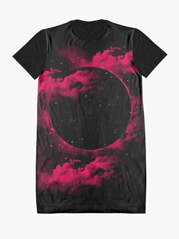 Alternate view of Black Hole Graphic T-Shirt Dress