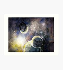 Out There Watercolor Art Print