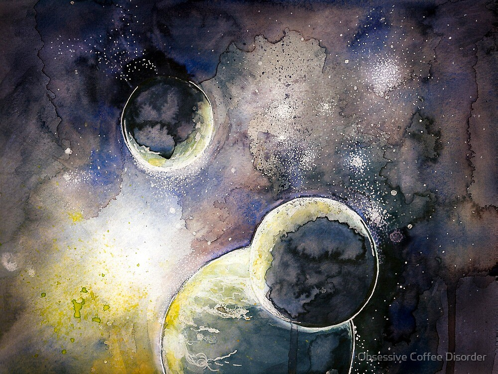 Out There Watercolor by Obsessive Coffee Disorder