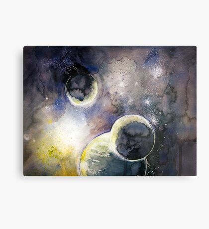 Out There Watercolor Metal Print
