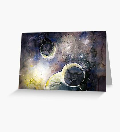 Out There Watercolor Greeting Card