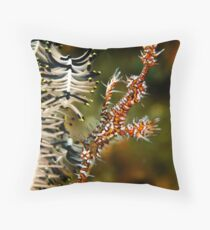 Ornate Ghost Pipe Throw Pillow