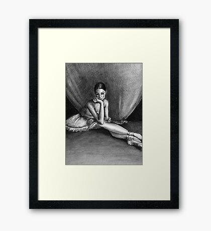 Sad Ballerina Framed Print