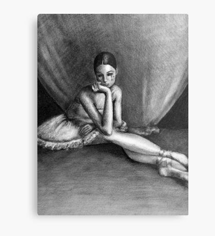Sad Ballerina Metal Print