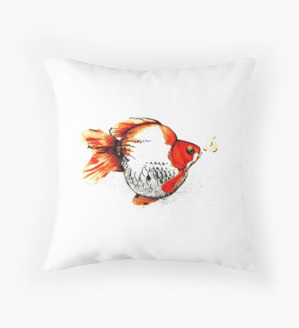 Bubble Fish Throw Pillow