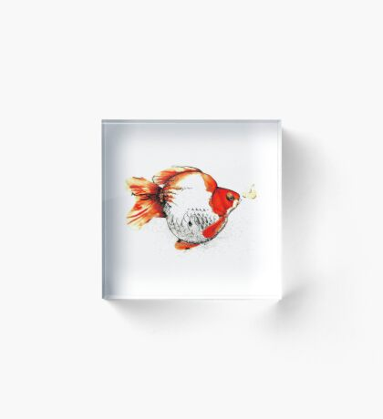 Bubble Fish Acrylic Block