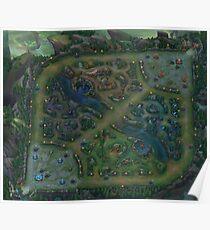 League Of Legends - Summoner's Rift Map 6K Poster