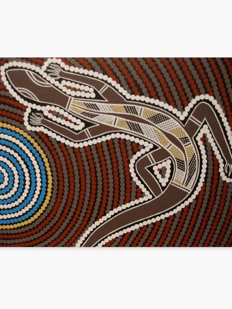 Goanna By Australian Aboriginal Artist David Williams Canvas Print