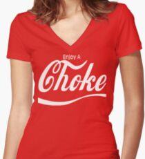 enjoy a choke Women's Fitted V-Neck T-Shirt