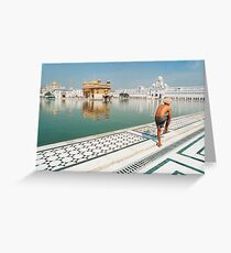 Golden Temple in Amritsar, Punjab (India) Greeting Card
