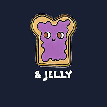 Peanut Butter and Jelly Couples Friend Shirt MATCHING SET  by trendo
