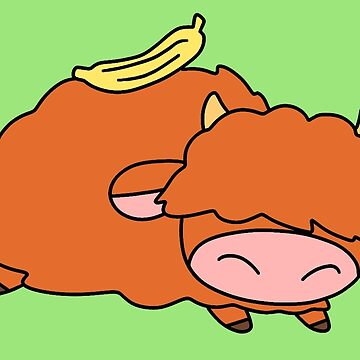 Banana Highland Cow by SaradaBoru