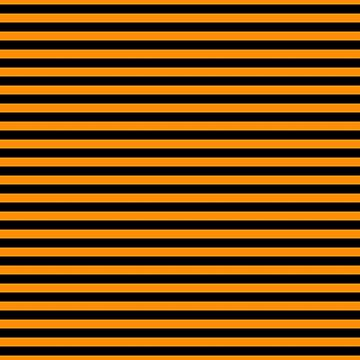 Dark Pumpkin Orange and Black Halloween Deck Chair Stripes by Creepyhollow
