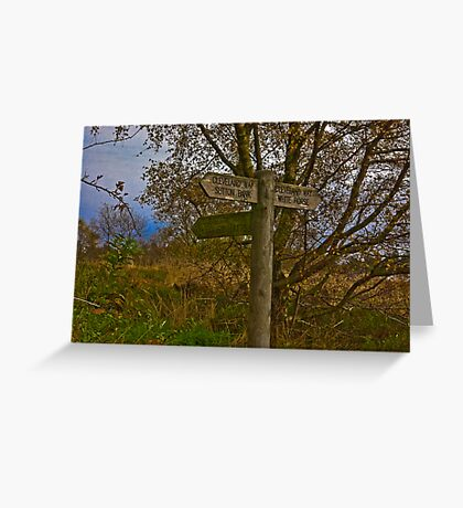 On The Cleveland Way Walk. Greeting Card