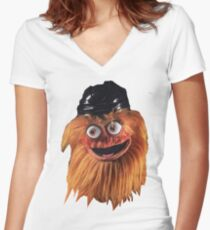 Gritty (Face) Women's Fitted V-Neck T-Shirt