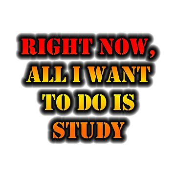 Right Now, All I Want To Do Is Study by cmmei
