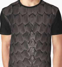 Black Snake Scale Fantasy Graphic T-Shirt