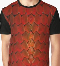 Red Snake Scale Fantasy Graphic T-Shirt