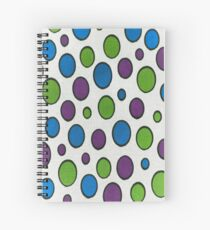 Polka Dots Painting Colorful Pattern Spiral Notebook
