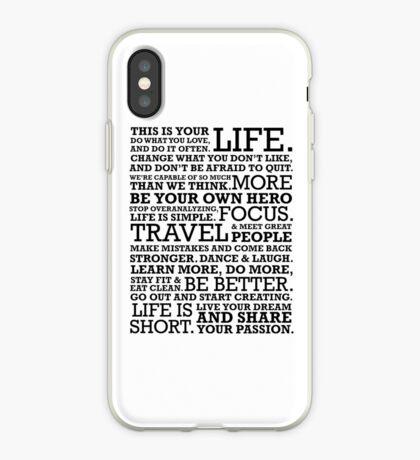 Motivational Manifesto iPhone Case