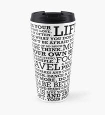 Motivational Manifesto Travel Mug