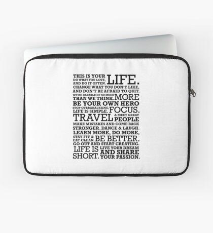 Motivational Manifesto Laptop Sleeve