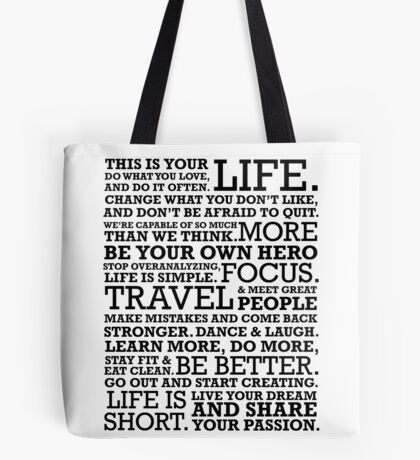 Motivational Manifesto Tote Bag