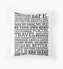 Motivational Manifesto Floor Pillow