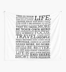 Motivational Manifesto Wall Tapestry