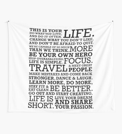 Motivational Manifesto Wall Tapestry