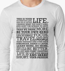 Motivational Manifesto Long Sleeve T-Shirt