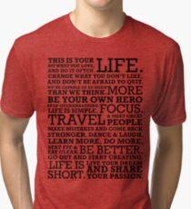Motivational Manifesto Tri-blend T-Shirt